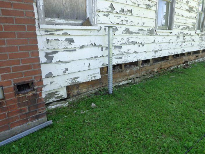 Krinner Screw Beaverdams Church Foundation Repair